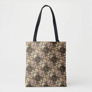 Paw Print Design Tote Bag