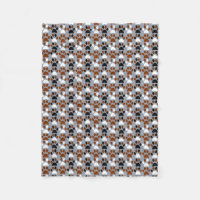 Paw Print pattern Fleece Blanket