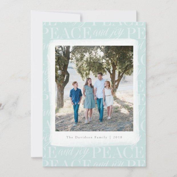 Peace and Joy Bright & Festive Photo Holiday Card