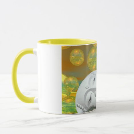 Peace – Golden and Emerald Serenity Mug