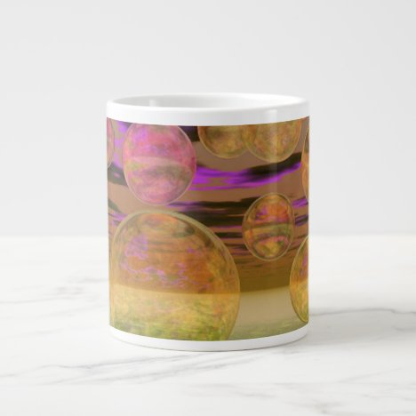 Peace in the Storm – Violet and Amber Tranquility Large Coffee Mug