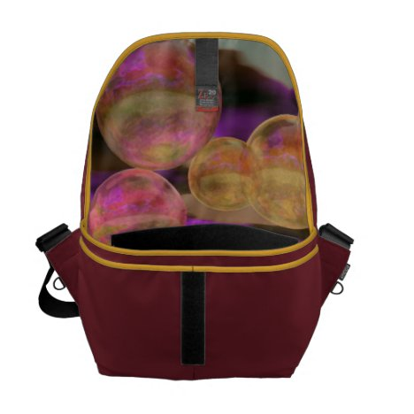 Peace in the Storm – Violet and Amber Tranquility Messenger Bag