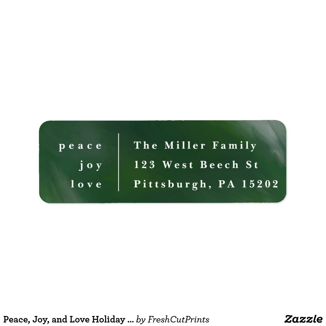 Peace, Joy, and Love Holiday Return Address Labels