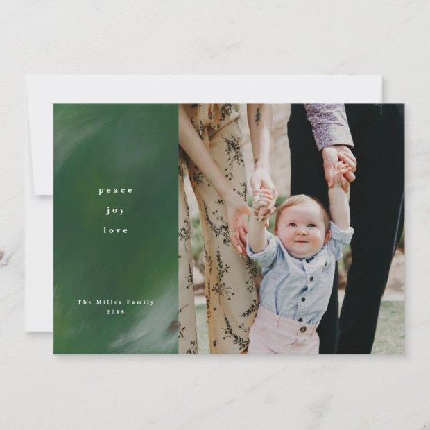Peace, Joy, and Love Photo Christmas Card