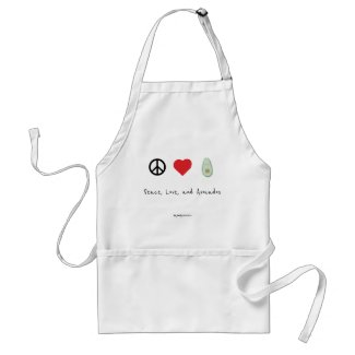 Peace, Love, and Avocados Apron