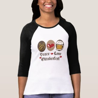 Peace Love Oktoberfest Long Raglan T shirt shirt