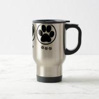 Peace Love Paw Coffee Mugs