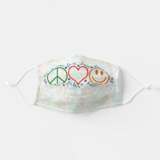 Peace Love Smile Cloth Face Mask