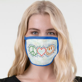Peace Love Smile Face Mask
