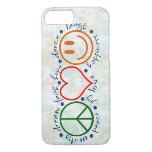 Peace Love Smile iPhone 8/7 Case