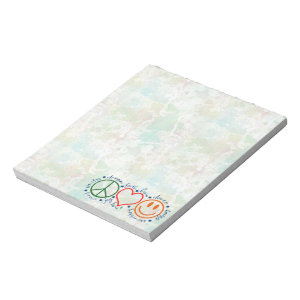 Peace Love Smile Notepad