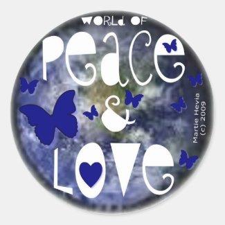 Peace & Love - Sticker