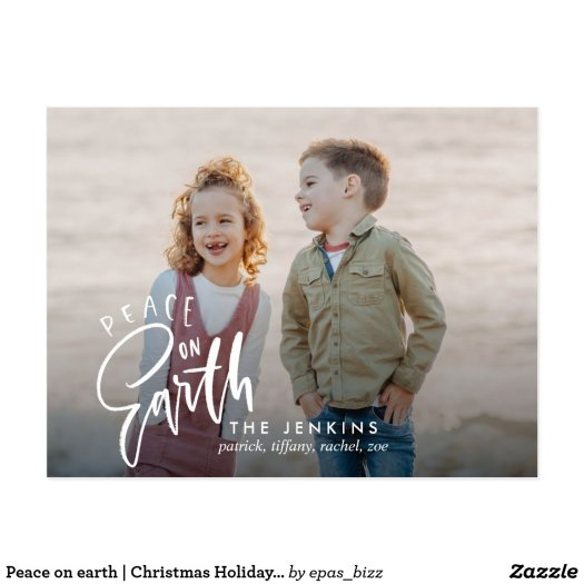 Peace on earth | Christmas Holiday Photo Postcard