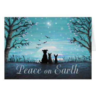 Peace on Earth Winter Sunset Card