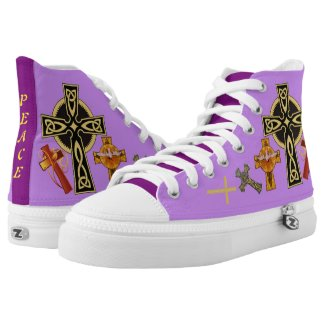 """""""PEACE"""" PRINTED SHOES"""
