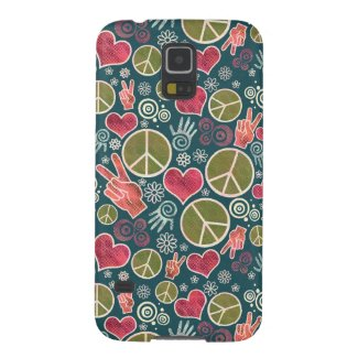 Peace Symbol Hipster Pacifism Sign Design Case For Galaxy S5