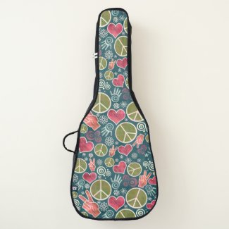 Peace Symbol Hipster Pacifism Sign Design Guitar Case
