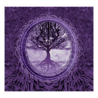 Peaceful Tree of Life by Amelia Carrie Poster