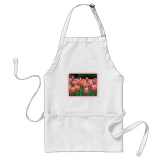 Peach and Pink Tulips Apron