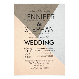 Elegant Peach Wedding Invitations