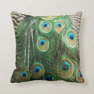 Peacock Beauty Pillow