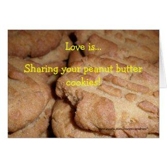 Peanut Butter Cookie Recipe Card card