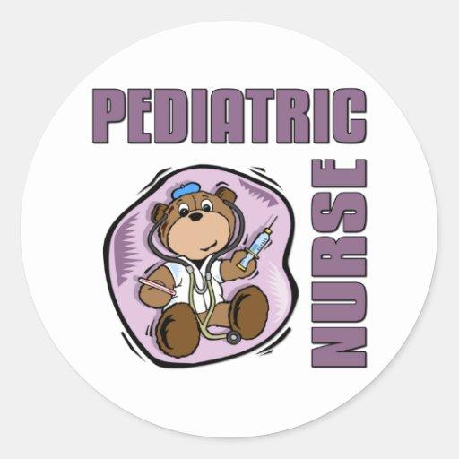 Pediatric Nurse Classic Round Sticker   Zazzle