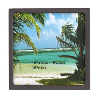 Pelican Beach Belize Premium Keepsake Box