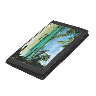 Pelican Beach Belize Tri-fold Wallet
