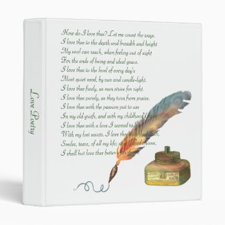 Pen and Ink Love 3 Ring Binder