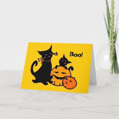 PengiHoliday black cats greeting card