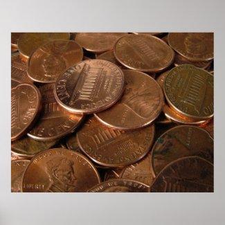 Pennies print