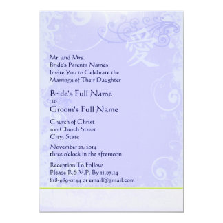 Elegant Periwinkle Leaf Bridal Shower Invitations