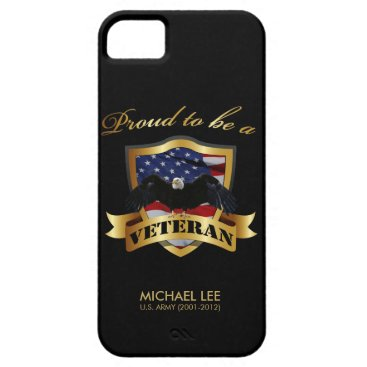 Perseonalized Proud to be a Veteran iPhone SE/5/5s Case