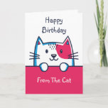 Personalised From The Cat Birthday Card