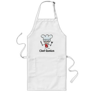Personalizable apron for men with funny chef image