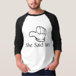 Personalize matching couple Pointed hand T-Shirt