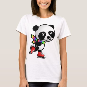 Personalize SKATE PANDA GIFT FOR BEAR CRAZY GIRL ! T-Shirt