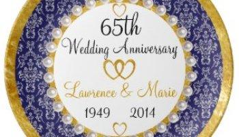 60th wedding anniversary plate gift idea personalized so