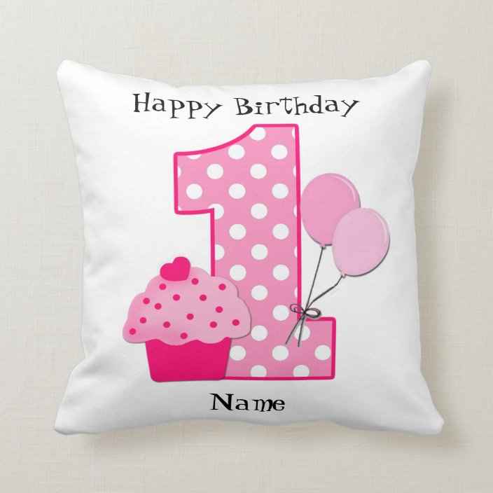 personalized baby s 1st birthday pillow zazzle com