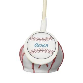 Personalized Baseball Cake Pops Cake Pops
