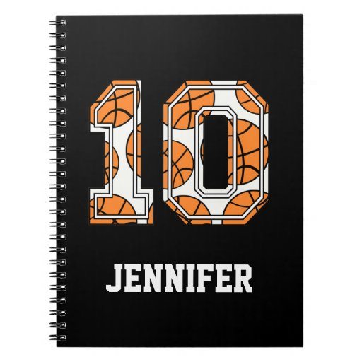 Personalized Basketball Number 10 Notebook | Zazzle