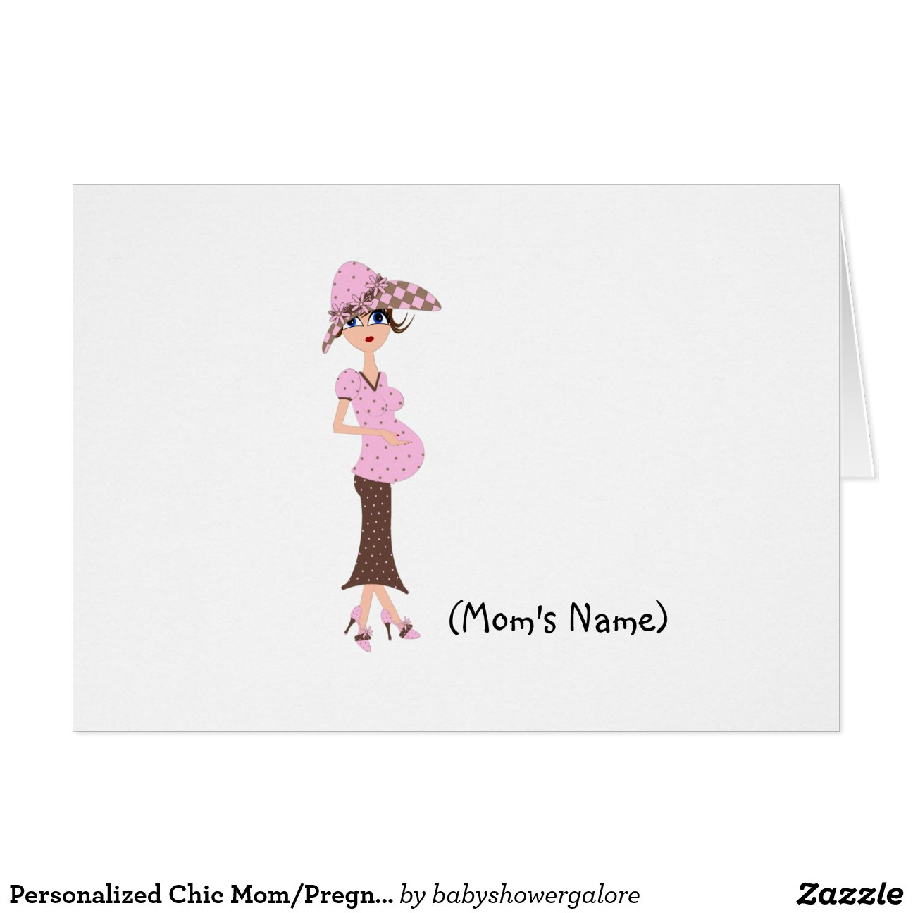 Personalized Chic Mom/Pregnant Woman Stationery Greeting