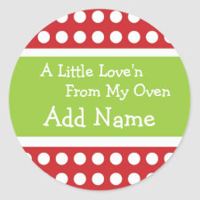Personalized Christmas Love'n Sticker sticker