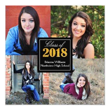 Personalized Class of 2018 Senior Graduation Photo Card