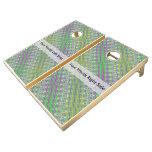 Personalized Colorful Pastel Zigzag Pattern Cornhole Set