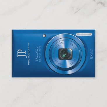 Personalized Compact Digital Camera Photographer Business Card