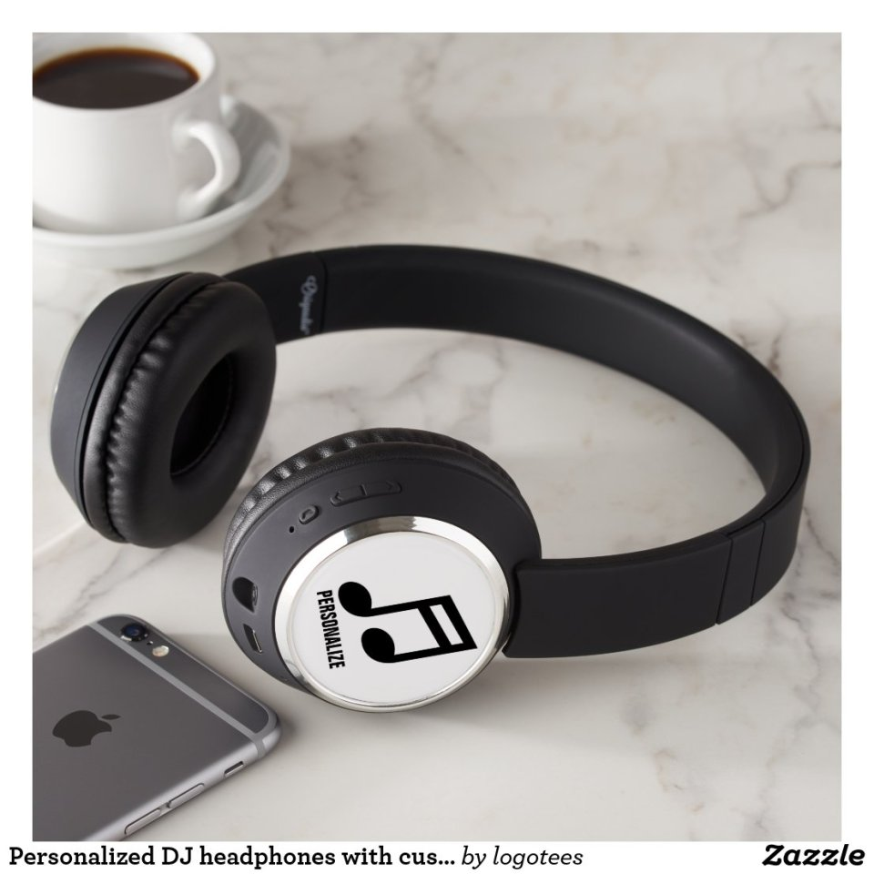 Personalized DJ headphones with custom logo