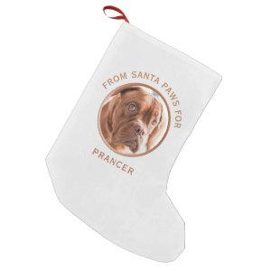Personalized Dog Photo Christmas Stocking