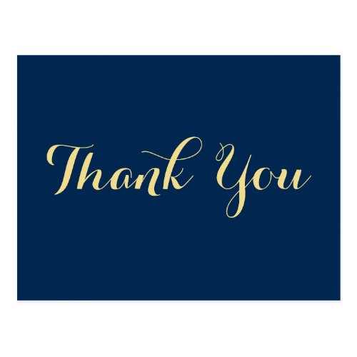 Personalized Elegant Graduation Thank You Postcard